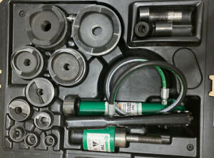 Greenlee 7310sb 1 2 4 Hydraulic Knockout Punch Set Slug Buster Electrical