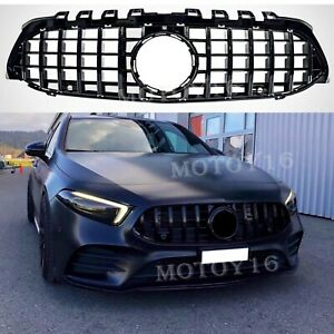 Front Gt R Paname Grille Grill For New A Clas W177 A200 A250 A35 Amg Black 2019