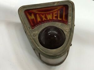 Rare Original Early Vintage Maxwell Car Auto Tail Tag Stop Light Car Hot Rod Old