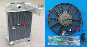 3 Row For Triumph Tr2 Tr3 Tr3a Tr3b Mt 1955 1962 57 59 Aluminum Radiator 12 fan