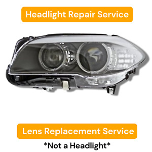 Headlight Lens Replacement Service 2011 2013 Bmw 5 series F10 11 12 13