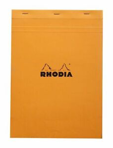 Rhodia Staplebound Notebook 8 1 4 X 11 3 4 Graph Orange
