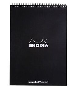 Rhodia Wirebound Notebook 8 1 4 X 11 3 4 Dot Pad Black