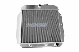 Aluminum Radiator Fit 1955 1956 1957 1958 1959 Chevy Truck Pickups 3 Cores