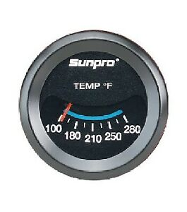 Sunpro 2 Inch Mechanical Water Oil Temperature Gauge Kit New Cp7983 100 280 F
