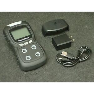 Lcd Multifunctional Gas Detector Detector With Voice Black Plt840