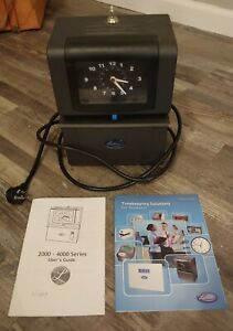 Lathem Model 4001 rfb Time Clock With Key And Manuals Great Working Condition