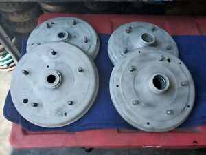 Porsche 356 A 2 Front And 2 Rear Brake Drums Complete Set