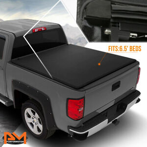 Vinyl Soft Top Roll Up Tonneau Cover For 04 14 Ford F150 W Fleetside 6 5ft Bed