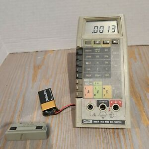 Vintage Fluke 8060a True Rms Multimeter Tested Works No Leads Cables