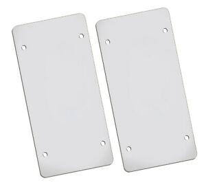 2 Thin Clear Plastic Auto License Plate Shield Protector Cover 020 Gauge 6 X12