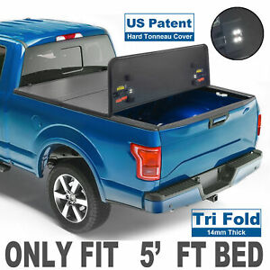 3 Fold 5 Truck Bed Tonneau Cover For 2005 2018 Nissan Frontier Short Us Patent