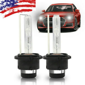 2pcs Bulbs 6000k White D2c D2s D2r Xenon Hid Replacement Factory Headlight Kits