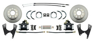 Fullsize Chevy 55 70 Standard 10 12 Bolt Rear Disc Brake Conversion Kit Black