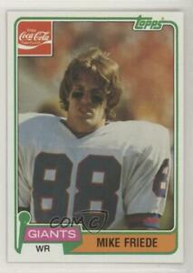 1981 Topps Coca-Cola New York Giants Mike Friede #3 Rookie