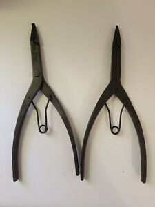 2pc Snap On Tools Snap Ring Pliers Srp1a Srp3 Great Condition Usa