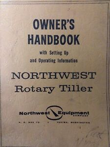 Northwest Equipment 3 point Rotary Tiller Implement 1962 Owner Parts Manual