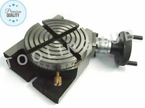 4 Rotary Table 100mm Horizontal Vertical With 4 Slots For Milling