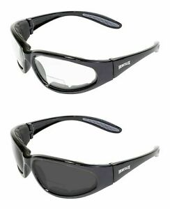 2 Z87 Safety Glasses 2 0 Bifocal Reading Padded Worker Construction Police Nwt
