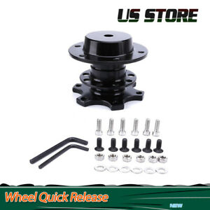 Steering Wheel Quick Release Hub Adapter Removable Snap Off Boss Kit Aluminum
