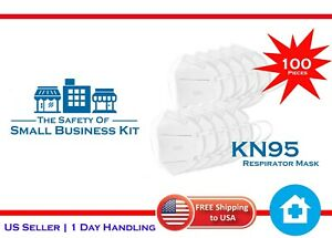 Kn95 Be Respirator Safety Mask 5 Layers Advanced Filter Technology 100 Pieces