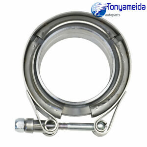 Brand New 2 25 V Band Universal Flange Clamp Kit Mild Turbo Exhaust Downpipe