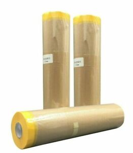 3 X Sanian Pre taped Masking Paper For Painters 18 Wide X 65ft Length