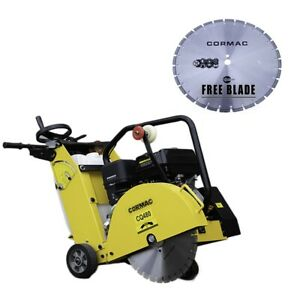 Cormac Walk Behind Saw 13 Hp Gas Engine Max Blade 18 Water Tank includes 1x18