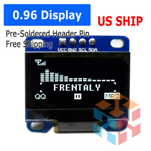 0 96 I2c Iic 128x64 Led Oled Lcd Display Module Arduino White Color Ssd1306 Us