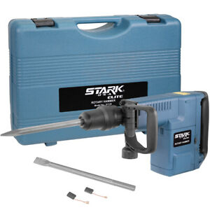 1500w Sds Max Electric Rotary Hammer With Chisel Point And Flat W Carrying Case