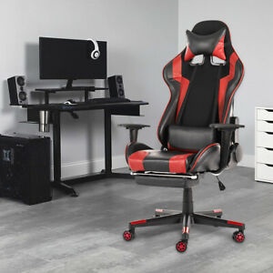 Office Chair Ergonomic High Back Leather Swivel Racing Computer Gaming Chairs Us