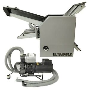 Will Ship Baum 714xe Ultrafold 714c 2 air Feed Compact Paper Folder W Pump