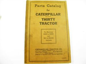 Cat Caterpillar Thirty Tractor S4683 s10536 Ps1 14292 Parts Catalog