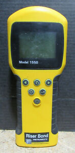 Riser Bond 1550 Handheld Cable Fault Locator No Power Battery Corrosion