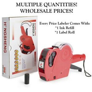 Mx5500 Eos 8 Digits Price Tag Gun Labeler Labeller includes Labels ink Refills