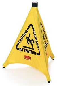 Pop up Caution Safety Cone 20 Rubbermaid