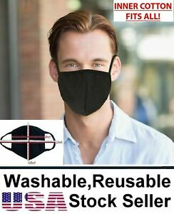 Reusable Washable 100 cotton Breath Comfortable Double Layer Fashion Face Mask