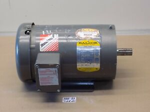 Used Baldor 3 Hp Electric Motor Cm3556t 208 230 460v 1140rpm 145tc 3ph