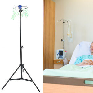 Portable Iv Pole Drip Bag Stand Foldable Pole Stand For Clinic Home Care Yl