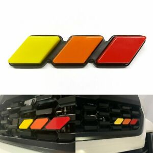 Tri color Grille Grill Emblem Badge Decal Fit For Toyota Tacoma 4runner Tundra