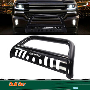 For 07 14 Escalade Chevy Avalanche 3 Black Bull Bar Brush Bumper Grille Guard