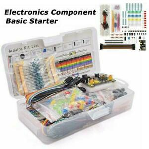 Electronic Component Starter Kit Wires Breadboard Buzzer Resistor E0h4