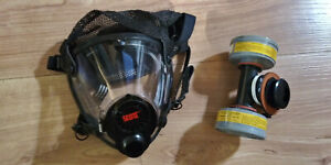 Scott o vista Facepiece W Adapter Cartridge Twin And Single Large Respirator