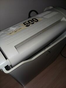Vintage Fellowes Shred 500 Paper Shredder Portable With Bin