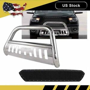 For 2007 2018 Toyota Tundra Push Bumper Skid Plate Bull Bar 3 Stainless Steel
