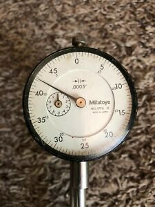 Mitutoyo 2776 Drop Dial Indicator W Mounting Attachment Stand Machinist Tool