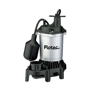 Flotec Fpzs50t 1 2 Hp 4200 Gph Max Flow Submersible Thermoplastic Sump Pump