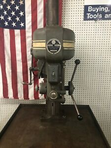 Walker Turner Heavy Duty Drill Press And Kennedy Type Cabinet