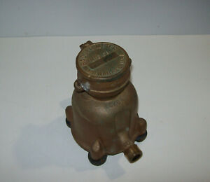 Vintage Badger Brass Water Meter 5 8a Usa Steampunk