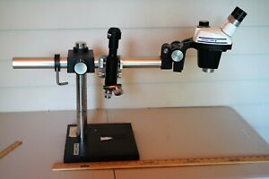 Bausch Lomb Sz4 Stereozoom 4 Microscope W boom Stand Zeiss Camera Mount